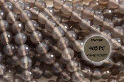 Kamienie Agat szary 2757kp 6mm 1sznur