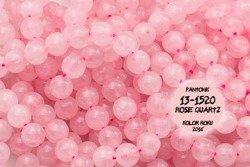 Kamienie Kwarc różowy 2485kp 8mm 1sznur