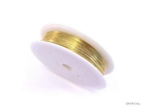 Drucik miedziany złocony 0.5d 1rolka
