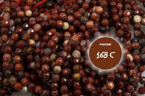 Kamienie Jaspis Flower 5752kp 2mm 1sznur