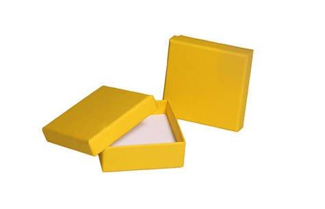 Pudełko jubilerskie 083okms 60x60mm żółty 1sztuka