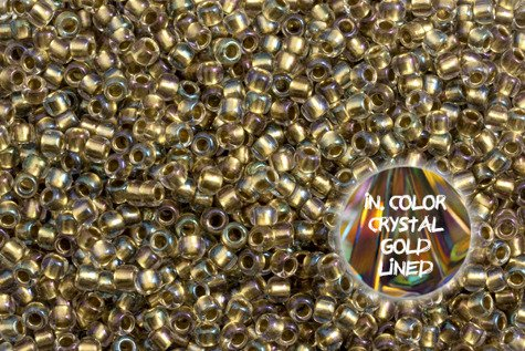 TOHO TR-08-262 In Color Crystal Gold Lined 10g
