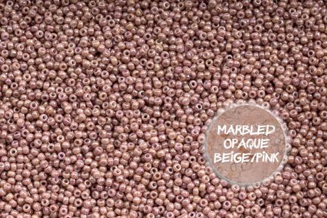 TOHO TR-11-1201 Marbled Opq Beige/Pink 50g