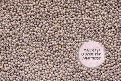 TOHO TR-11-1203 Marbled Opq Pink/Amethyst 10g